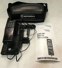 Vintage Motorola Car Phone In Leather Case With Manuals