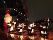 Christmas Decoration Vintage Iron Elk Candle Holders