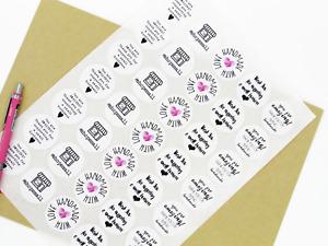 Handmade Small Business Packaging Stickers, Fun Sticker Mix For Handmade
