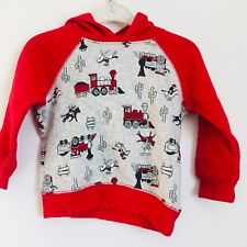 Jumping Beans Red Boys Hoodie Sweater Size 18 Months