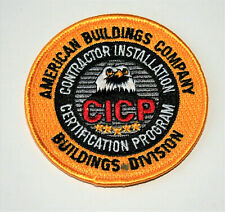 American Buildings Company CICP Certification Program Patch NOS 1990s