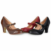 Journee Collection Womens Tweed Two tone Mary Jane Pumps New