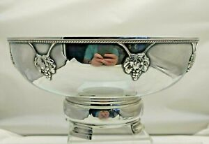 Antique Solid Silver Large Bowl Arts & Crafts AE Jones 1937 663g (1835-9-KVNU)