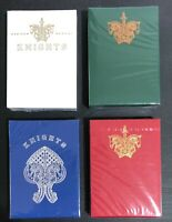 Bicycle Ellusionist 4 X Combo Knights White + Red + Blue +Green US Playing Cards
