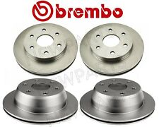 For Chevy GMC Pair Set 2 Front & Rear Disc Brake Rotors Kit 6 Lugs Vented Brembo