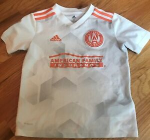 Adidas Atlanta United FC Away (Kids Size S) MLS Soccer Jersey White USA Shirt