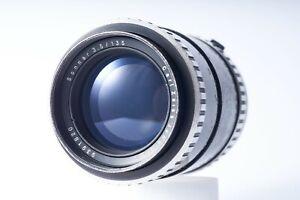 Carl Zeiss Jena Sonnar Zebra vintage telephoto prime lens EXA f/3,5 135mm VGC-