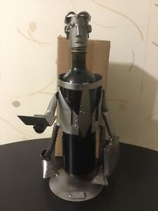 Wine Caddy / Male Executive with Computer & Briefcase  H&K Steel Sculpture