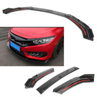 Glossy Black Front Bumper cover Lip Front Spoiler For Honda Civic 2016 2017 2018