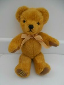 """LOVELY GOLDEN FULLY JOINTED MERRYTHOUGHT TEDDY BEAR WITH LABELS 12"""""""