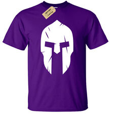 Spartan Helmet MENS T-shirt bodybuilding mma gym fitness training workout top
