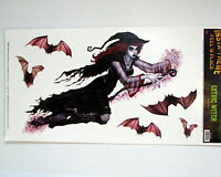 Halloween Decoration Props InstaTheme Gothic Witch and Bats Peel N Place Sticker