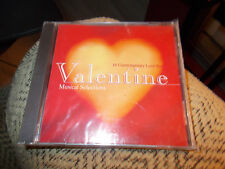 VALENTINE MUSICAL SELECTIONS CD 16 CONTEMPORARY LOVE SONGS BRAND NEW SEALED