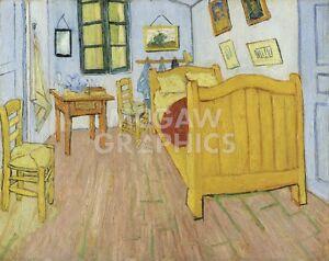 """vAN GOGH VINCENT - THE BEDROOM, 1888 - ART PRINT POSTER 11"""" X 14"""" (1718)"""