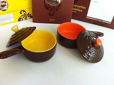 Coffret cassolettes et cocottes: livre de recettes + 2 cassolettes en porcelaine