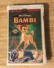 Disney Bambi VHS Masterpiece Collection 55th Anniversary Limited Edition