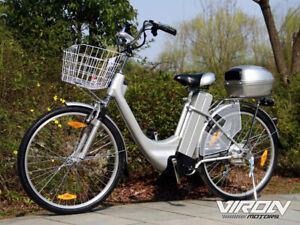 Vélo électrique - De elektrische fiets - Citybike VIRON 250W / 36V Argenté