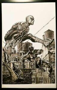 Daredevil #8 Lee Bermejo 11x17 FRAMED Original Art Poster Spider-Man Marvel Comi