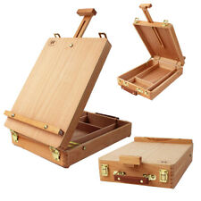 Portable Beech Art Drawing Painting Desktop Table Easel Wooden Sketch Box Hbx-3