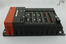 5451 MITSUBISHI MELSEC POWER SUPPLY PLC ASSY W/ 8 MODULES A61P