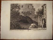 Stampa antica Cloaca Maxima roma old print 1796 M. Vasi radierung gravure