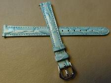 New Timex Blue Crocodile Grain Genuine Leather Reg to LONG 12mm Watch Band Strap