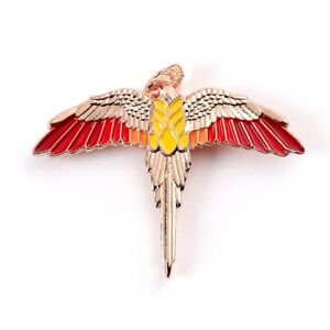 Official Harry Potter Rose Gold Plated Fawkes Pin Badge by The Carat Shop