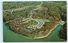 Aerial View Burr Oak Lodge and State Park Glouster Ohio OH Vintage Postcard B13