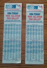 1988 MLB ALL-STAR Baseball Game Fan Ballot CINCINNATI Reds RIVERFRONT USA Today
