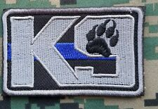 K9 THIN BLUE LINE POLICE MILITARY 3D USA ARMY MORALE EMBROIDERED HOOK LOOP PATCH