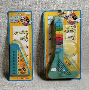 Mickey Band Lot x 2 Magic Banjo + Panflute Walt Disney Bontempi Made in Italy