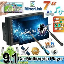 "2DIN 7"" Android 9.1 Autoradio WIFI GPS Navi Auto Stereo MP5 BT Link Specchio FM"
