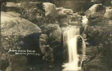 Grafton Notch ME Screw Auger Falls 1941 Gilead Cancel Real Photo Postcard