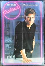 COCKTAIL 1988 Authentic 1 Sheet Movie Poster Tom Cruise