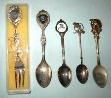 5 x Atlantis Marine Park Western Australia Yanchep Souvenir Spoons Diff Designs