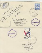 More details for 1967 lot of 2 x newcastle australia paquebot covers - m/v northbank