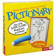 Pictionary Board Game New 2018 Edition With Wipe Clean Markers by Mattel (DKD49)