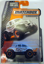 Tokaland Matchbox 2014 63/120 White Volkswagen Beetle 4X4 No # Card Back