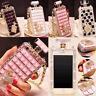 Diamond Crystal Perfume Bling Bottle Chain Handbag Case Cover For Cell Phone