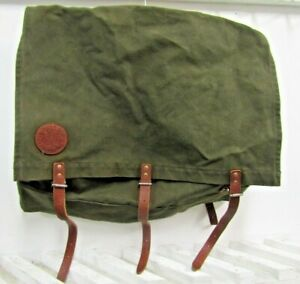 Vintage Duluth OD Green 321 Pack Sack Canoe/Hiking Canvas Pack Leather Straps