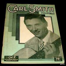 CARL SMITH 1954 COUNTRY MUSIC SONG FOLIO NO. 1 with LYRICS & PHOTOS