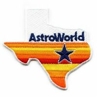 Rainbow Texas State Logo Embroidered Iron On Patch