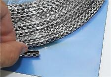 2m Meters Chrome-Black Car Door Edge Guard Protector Moulding Trim Molding Strip