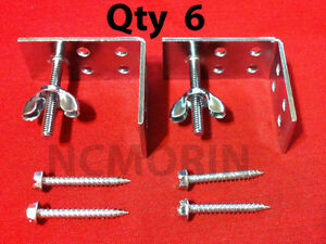 Qty. (6) Roman Shade Mounting Installation L-Brackets with Screws