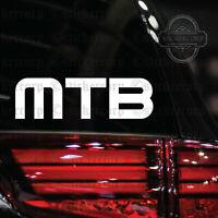"MTB car Decal Sticker [ for truck rv van bike moto windows] 6.5"""