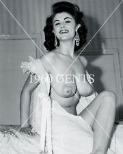 1950s NUDE 8X10 PHOTO OF BIG-BOOBS-NIPPLES ROSA DOLMAI PINUP FROM ORIGINAL NEG-2