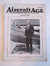 1930 AIRCRAFT AGE AVIATION MAGAZINE - CHARLES LINDBERGH - GOOD - TUB RR