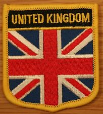 UNITED KINGDOM UK UNION JACK GB Shield Country Flag Embroidered PATCH Badge P1