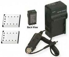 Two Batteries + Charger for Casio EX-Z800PK EX-Z800SR EX-Z800VP EX-Z800YW EX-ZS5