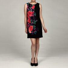 NEW Nine West Women's Floral Print Stretchy Dress -Black Combo- Size 8 ($128)